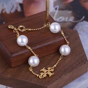Tory Burch Round Beads Vintage Golden Bracelet